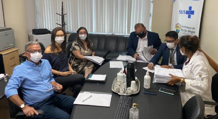 Crefito5, CRP e Coren se reúnem com Secretário Municipal de Saúde
